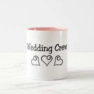 Wedding Crew Black Hearts Mugs