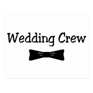 Wedding Crew Bowtie Postcard