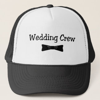 Wedding Crew Bowtie Trucker Hat