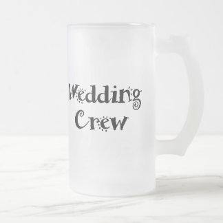 Wedding Crew Frosted Glass Beer Mug