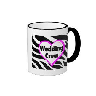 Wedding Crew (Heart Zebra Print) Mug
