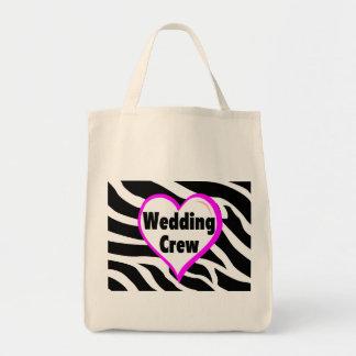 Wedding Crew (Heart Zebra Stripes) Bag