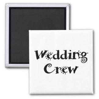 Wedding Crew 2 Inch Square Magnet