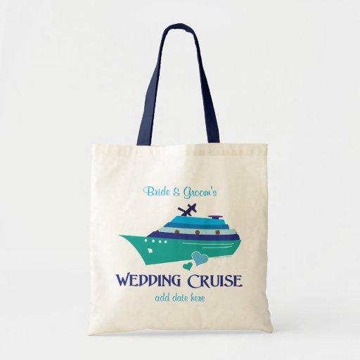 Cruise Wedding Gift Bag Ideas : Wedding Cruise Canvas Bag Zazzle