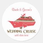 Wedding Cruise Round Sticker