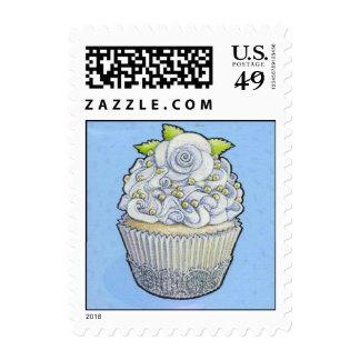 wedding cupcake postage stamp