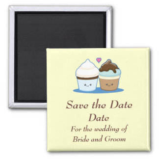 Wedding Cupcakes 2 Inch Square Magnet