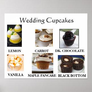 Wedding Cupcakes Poster
