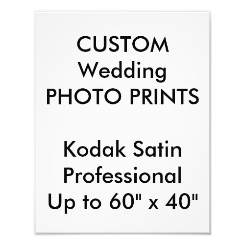 Wedding Custom 11 x 14 Professional Photo Prints