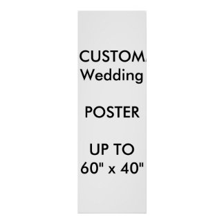 "Wedding Custom 12"" x 36"" Poster MATTE Portrait"