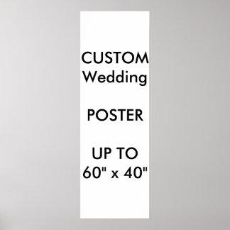 "Wedding Custom 12"" x 36"" Poster MATTE Portrait"