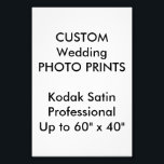 "Wedding Custom 4&quot; x 6&quot; Professional Photo Prints<br><div class=""desc"">For the full and expending range of customizable wedding product templates, visit http://www.personalizedweddingessentials.com. Wedding Custom 4&quot; x 6&quot; Kodak Professional Satin Photo Prints, developed specifically for darkroom printing, Kodak photographic paper is a premium silver-halide paper designed to dramatically enhance colors, while maintaining consistent tonal reproduction. Square, horizontal or vertical, sizes...</div>"