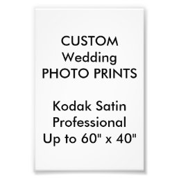 "Wedding Custom 4"" x 6"" Professional Photo Prints"