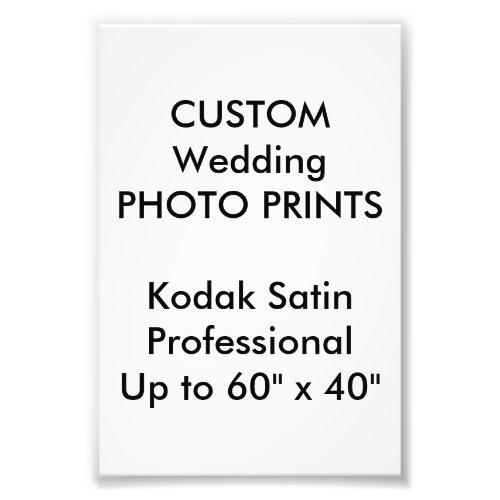 Wedding Custom 4 x 6 Professional Photo Prints