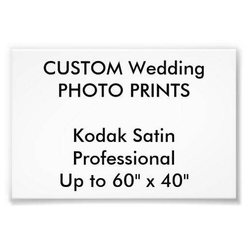Wedding Custom 6 x 4 Professional Photo Prints