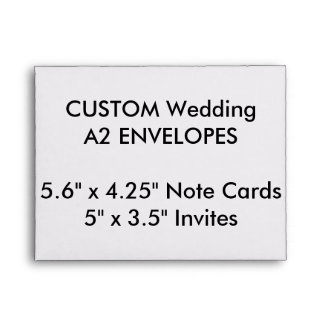 "Wedding Custom A2 Envelopes 5.6""x4.25"" Note Cards"