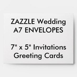 "Wedding Custom A7 Envelopes 7""x5"" Invites & Cards"