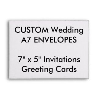 "Wedding Custom A7 Envelopes 7""x5"" Invites & Cards"