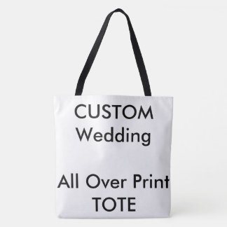 Wedding Custom ALL OVER PRINT Tote Bag LARGE