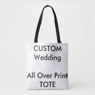 Wedding Custom ALL OVER PRINT Tote Bag MEDIUM