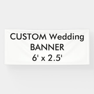 Wedding Custom Banner 6' x 2.5'