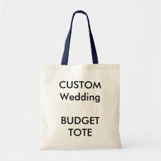 Wedding Custom Budget Tote Bag Navy Blue Handles at Zazzle