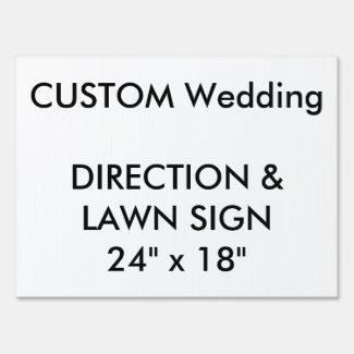 Wedding Custom Direction & Lawn Sign 24