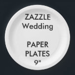 "Wedding Custom Disposable Party Paper Plates 9&quot;<br><div class=""desc"">Custom Paper Plates,  Large 9&quot;,  set of 8,  for serving lunch,  barbecue,  salad etc. FDA approved for food contact and safety. Printed in USA.  CUSTOM WEDDING PAPER PLATES.  DESIGN YOUR OWN customizable,  personalized Wedding DISPOSABLE PARTY PLATES.</div>"