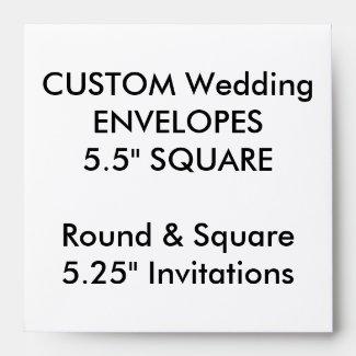 Wedding Custom Envelopes 5.25