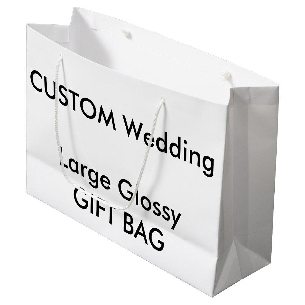 Wedding Custom Gift Bag GLOSSY LARGE 12.5