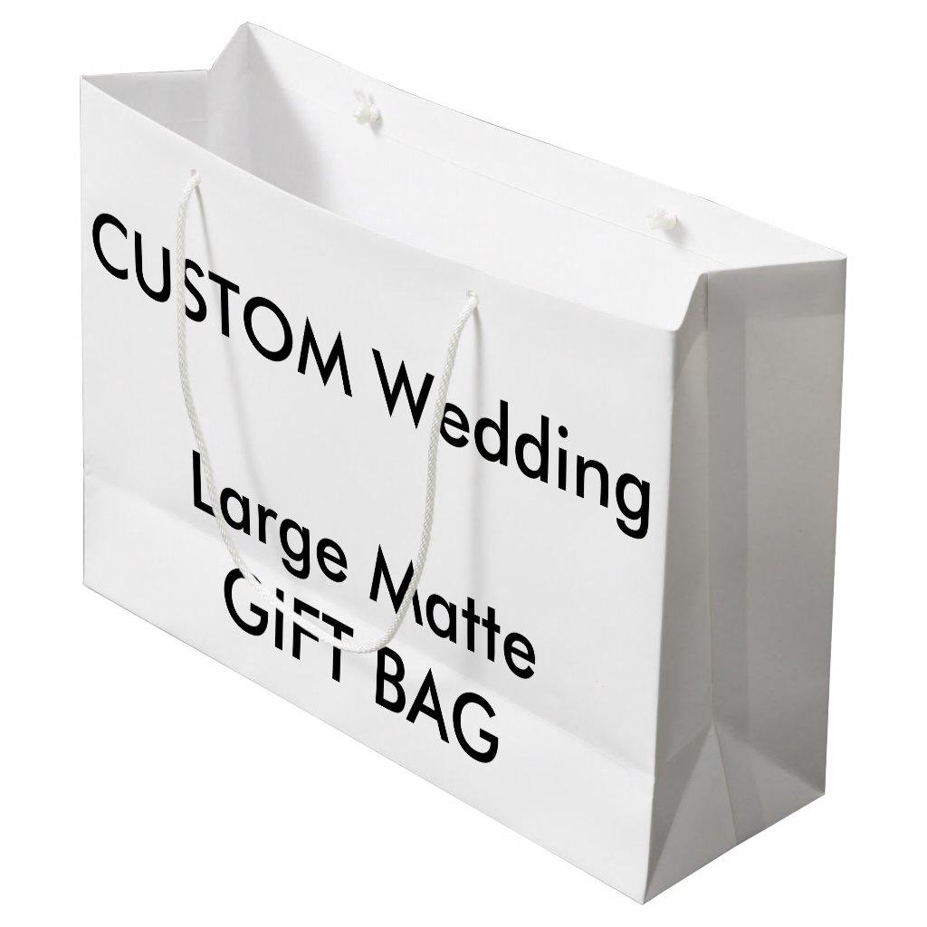 Wedding Custom Gift Bag MATTE LARGE 12.5