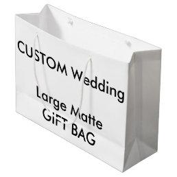 """Wedding Custom Gift Bag MATTE LARGE 12.5"""" x 9"""""""