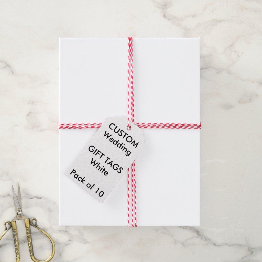 Wedding Custom Gift Tags (10) WHITE