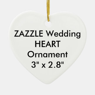 Wedding Custom HEART Hanging Ornament Decoration