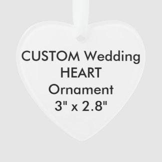 Wedding Custom HEART Ornament Hanging Decoration