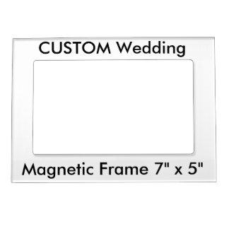 "Wedding Custom Magnetic Frame 7"" x 5"""