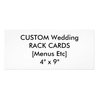 "Wedding Custom Menu & Program Cards 4"" x 9"""