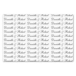 Wedding Custom Names Monogram Tissue Paper