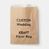 Wedding Custom Paper Favor Bag KRAFT