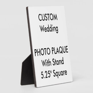 "Wedding Custom Photo Plaque 5.25"" Square"