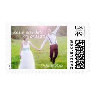 Wedding CUSTOM PHOTO Text Save Date Postage Stamp