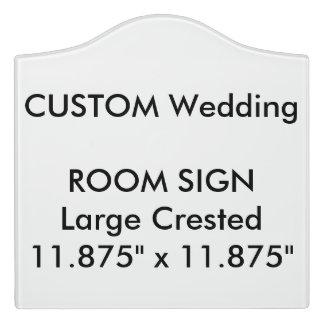 "Wedding Custom Room Sign Crested 11.875"" x 11.875"" Door Sign"