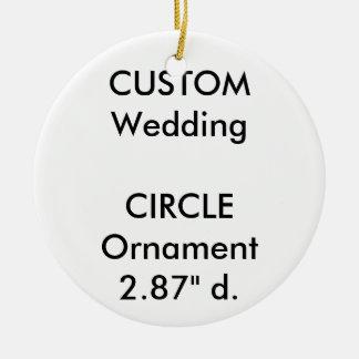 Wedding Custom ROUND Ornament Hanging Decoration