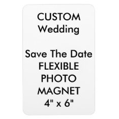 Wedding Custom Save The Date Photo Fridge Magnet at Zazzle