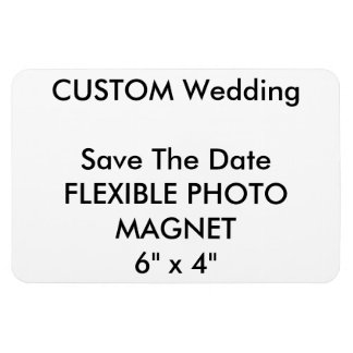 Wedding Custom Save The Date Photo Fridge Magnet