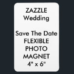 "Wedding Custom Save The Date Photo Fridge Magnet<br><div class=""desc"">Wedding Custom Save The Date Photo Magnet, Flexible Refrigerator (Fridge) Magnet, 4&quot; x 6&quot;. Horizontal or vertical design, perfect for refrigerators or any magnetic surface (also sticks to curved surfaces), vinyl laminated for photos, images, text, or designs, high quality vibrantly printed in full color, stain and water resistant. CUSTOM WEDDING...</div>"