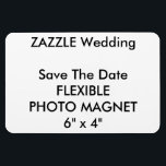 "Wedding Custom Save The Date Photo Fridge Magnet<br><div class=""desc"">Wedding Custom Save The Date Photo Magnet, Flexible Refrigerator (Fridge) Magnet, 6&quot; x 4&quot;. Horizontal or vertical design, perfect for refrigerators or any magnetic surface (also sticks to curved surfaces), vinyl laminated for photos, images, text, or designs, high quality vibrantly printed in full color, stain and water resistant. CUSTOM WEDDING...</div>"