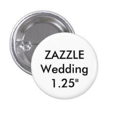 "Wedding Custom Small 1.25"" Round Button Pin at Zazzle"