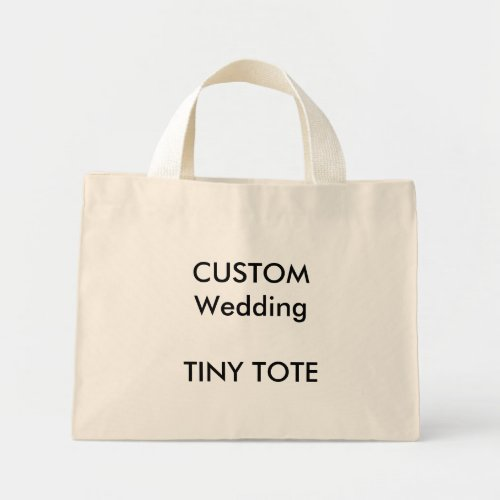 Wedding Custom Small Cotton Tote Bag NATURAL Color