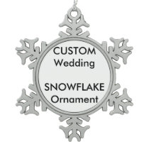 Wedding Custom Snowflake Ornament Decoration
